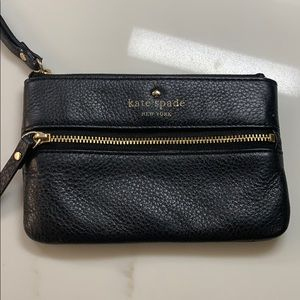 Kate spade black and gold authentic wristlet purse